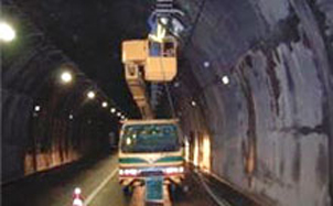 Equipment installed in a highway tunnel